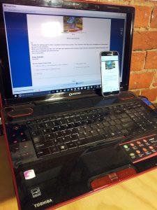 Laptop Phone Online Survey